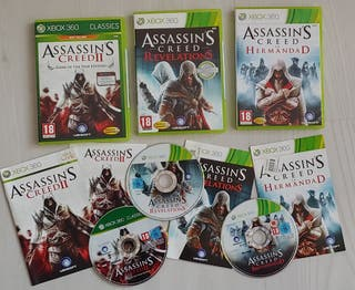 Lote ASSASSINS CREED pack 3 juegos Xbox One y 360