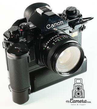 Canon A1 NEGRA+ 50mm F: 1: 1.8 + motor