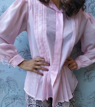 Camisa rosa. Talla M/L