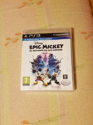 juego ps3 epic mickey