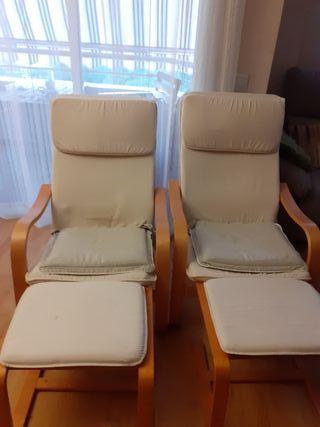 sillón relax con reposapies