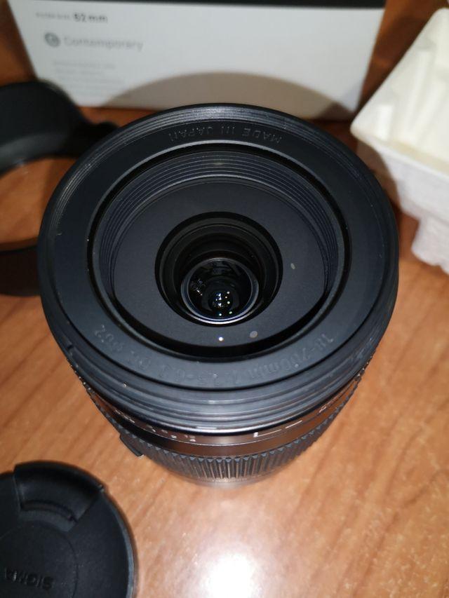 Objetivo Sigma 18-200mm para Canon
