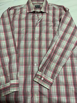 Camisa cuadros rosa Keneth Cole
