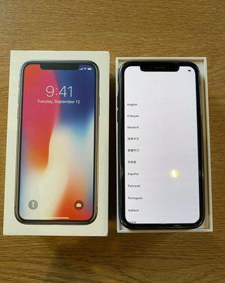 iPhone X silver unlocked 64gb