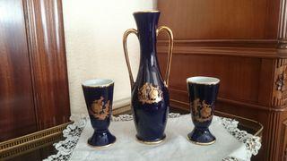 conjunto de Veritable Bleu de Four de Limoges