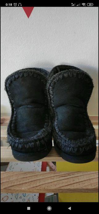 Botas Mou originales 38 negros
