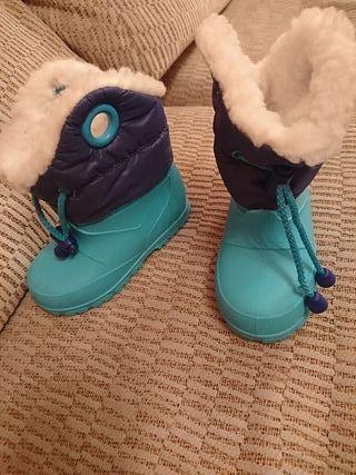 Botas de nieve talla 22-23 Regalo guantes de nieve