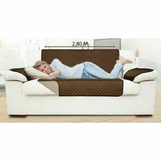 Funda cubre sofá reversible 3 plazas 2 colores