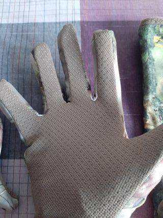 guantes y braga camo caza