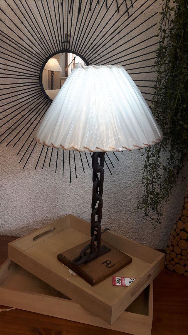 lampara mesita rustica