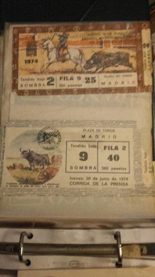 16 ENTRADAS DE TOROS DE S.ISIDRO 1974