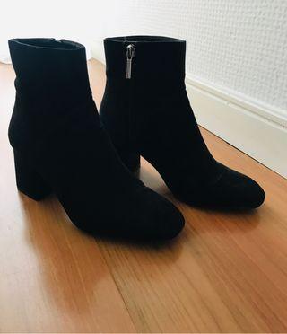 Botines negros Zara