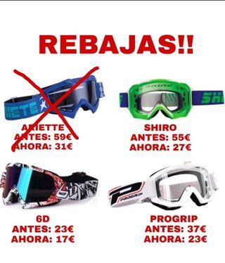 REBAJAS GAFAS MOTOCROSS/ENDURO NUEVAS