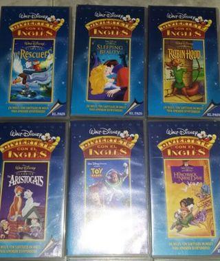 Películas VHS Walt Disney en inglés