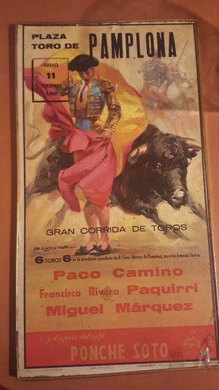 Cartel de toros año 1969