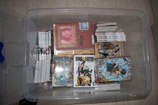 Colección de comics manga.