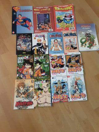 comics de Naruto,Dragon hall,one piece y varios