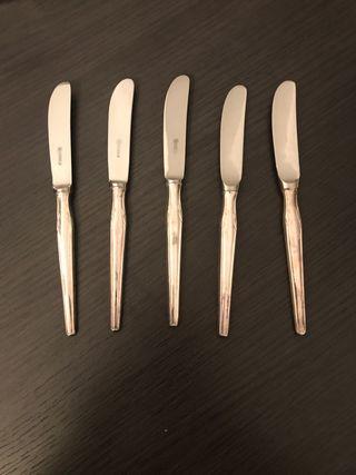 6 cuchillos plata de ley