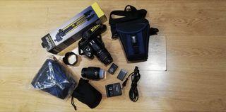 Camara reflex Nikon D60 + 2 objetivos + tripode