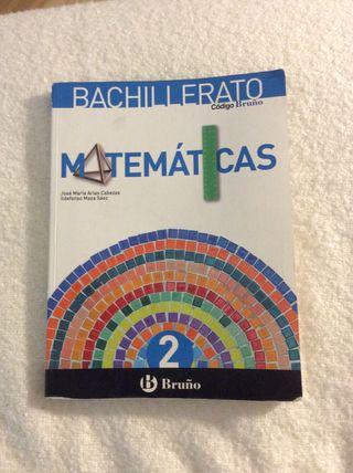 Libro de Matematicas 2º de bachillerato BRUÑO