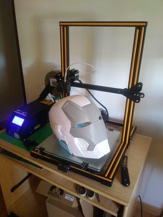 Casco iron man 3D tamaño real hidroimpresion pro
