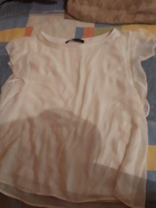 camisa estilo camiseta blanca zara woman