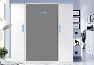 Cama vertical con armarios panda