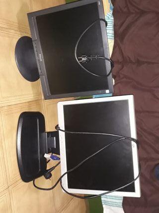 Pantallas de ordenador Philips y HP