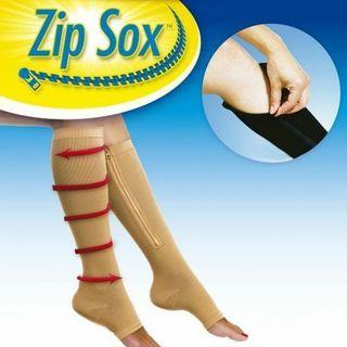 Zip Sox Calcetines Soporte Pierna con Cremallera