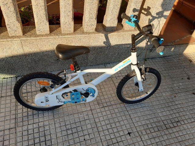 bicicleta Btwin 16 pulgadas