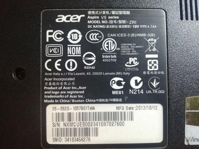 Despiece ACER Aspire V5 552G