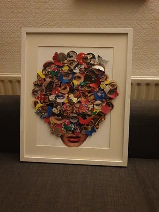 hand made collage art