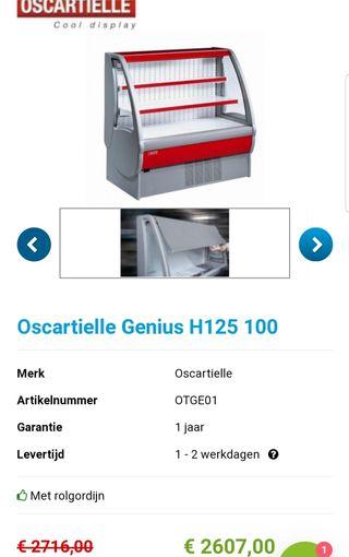Refrigerador vitrina Oscartielle Genius H125 L100
