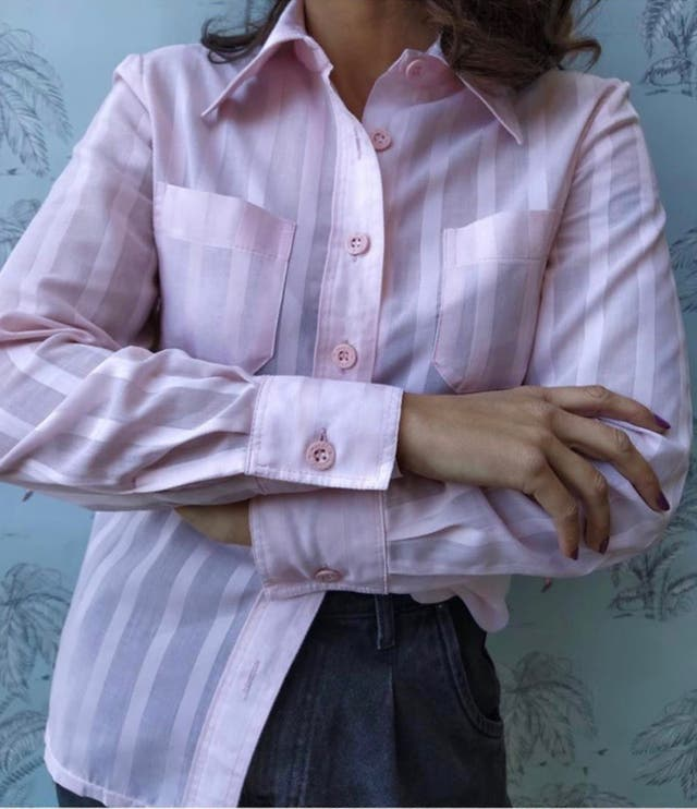 Camisa rosa. Talla M