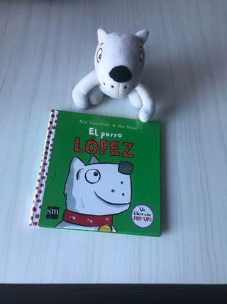Libro del perro López con su peluche