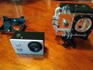 Cámara estilo GoPro de 1080P y carcasa de buceo