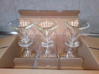 6 copas cristal para postre