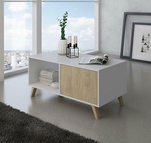 Mesa de centro con revistero para comedor o salon