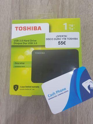 ¡OFERTA! Disco duro 1TB TOSHIBA 55€