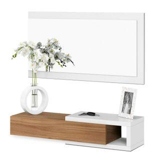 Recibidor con espejo, entrada moderna