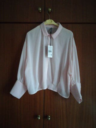 camisa color rosa palo