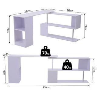 Mesa de Ordenado giratoria 360°