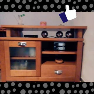 Mueble TV madera maciza 190€