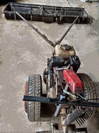 Recolectora de aceitunas con motocultor