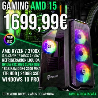 ORDENADOR PC GAMING RYZEN 7 3700X RTX 2080 SUPER