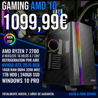 ORDENADOR PC GAMING RYZEN 7 2700 RTX 2070 8GB
