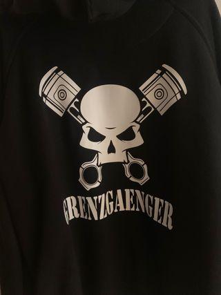 Hoodie Grenzgaenger/Grenzgänger talla L
