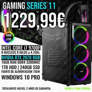 ORDENADOR PC GAMING I7 9700 RTX 2070 16GB RAM