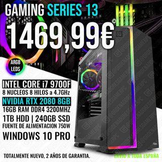 ORDENADOR PC GAMING I7 9700 RTX 2080 16GB RAM