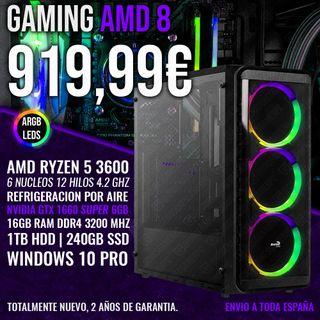 ORDENADOR PC GAMING RYZEN 5 3600 GTX 1660 SUPER
